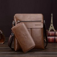 Clever Luxury Business Pu Leather Shoulder Bags - Brown