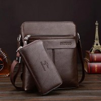Clever Luxury Business Pu Leather Shoulder Bags - Coffee