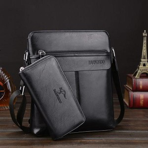 Clever Luxury Business Pu Leather Shoulder Bags - Black
