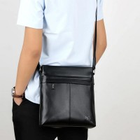 Soft Leather Anti-Scratch Kangaroo Printed Bags - Black