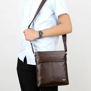 Soft Leather Anti-Scratch Kangaroo Printed Bags - Brown