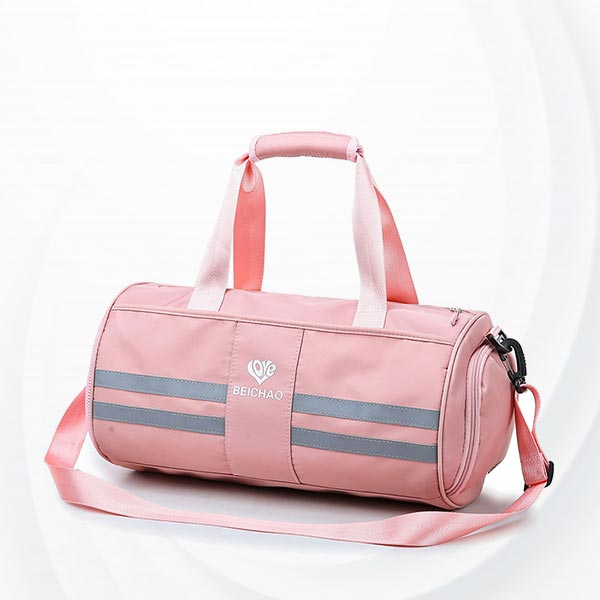 Wet Dry Separation Fitness Female Travel Bags - Pink