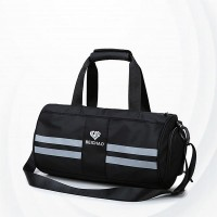 Wet Dry Separation Fitness Female Travel Bags - Black