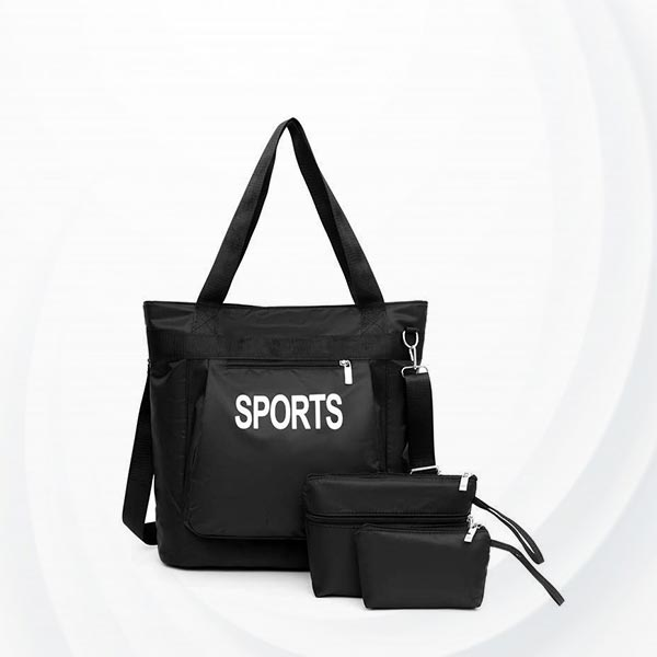 Large  Capacity Lightweight Waterproof Bag Set - Black