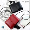 Tassel Vertical Synthetic Leather Shoulder Bags - Red
