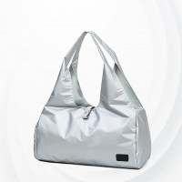 Lightweight Sports Solid Ladies Shoulder Yoga Bag - Silver