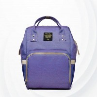 Maternity Multi Pockets Baby Care Mother Bags - Purple