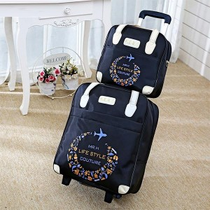 Portable Trolley Lightweight Large-capacity Bags - Black