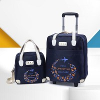 Portable Trolley Lightweight Large-capacity Bags - Blue