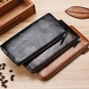 Multi Pockets Pu Leather Solid Hand Wallet - Black