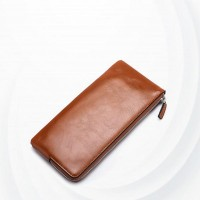 Multi Pockets Pu Leather Solid Hand Wallet - Brown
