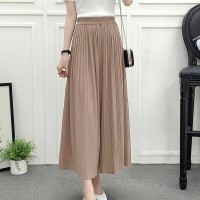 High Waist Loose Asymmetric Wide-leg Trousers - Khaki