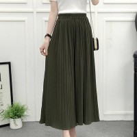 High Waist Loose Asymmetric Wide-leg Trousers - Green