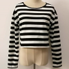 Round Neck Striped Full Sleeves Top