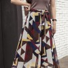 Geometric Prints Loose Wear Palazzo Trousers - Multicolor