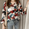 Colorful Floral Prints Full Sleeves Casual Shirt - Multicolor