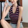 Stripes Print Summer Wear Camisole Top - Blue