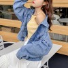 Jeans coat Printed Party Denim Casual Outwear Jacket