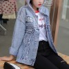 Jeans coat Hoodie Neck Summer Outwear Denim Jacket