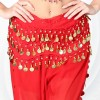 New Style Belly Dance Waist Chain 128 Coins - Red