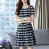 Striped Elegance Summer Wear Printed Mini Dress