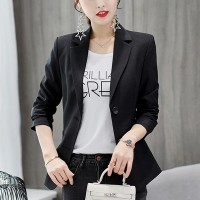 Outerwear Ladies Blazer Office Dress Coat - Black