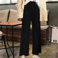 Full length Loose Casual Female Trousers - Black