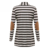 Striped Sleeves Patch Long Outwear Cardigan