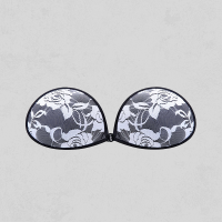 Black And White Invisible Backless Push Up Bra