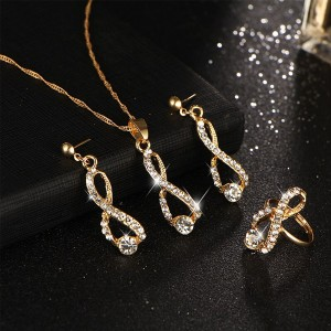 Crystal Mold Jewellery Party Wear Necklace Set
