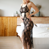 Floral Art Lace Transparent Strap Nightwear Lingerie