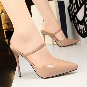 Cocktail Synthetic Leather High Heel - Pink