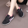 Sports Casual Running Lace Shoes - Black