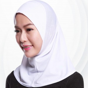 Muslim Pull Over Plain Attractive Hijab Scarf - White