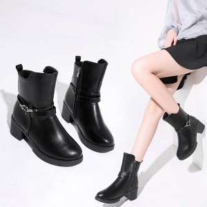 Buckle Closure Vintage Style Formal Wear Boots