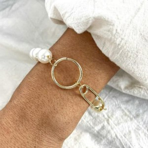 Gold Plated Pearl Decorated Daily Wear Bracelet