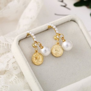 Pearl Decorative Gold Plated Party Earrings