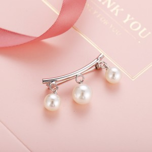Pearl Hanging Silver Plated Multipurpose Safety Pin