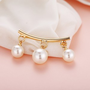 Pearl Hanging Gold Plated Multipurpose Safety Pin