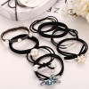 Eight Pieces Floral Daily Wear Elastic Bands