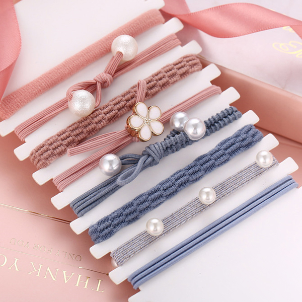 Eight Pieces Elastic Hair Grooming Bands Set