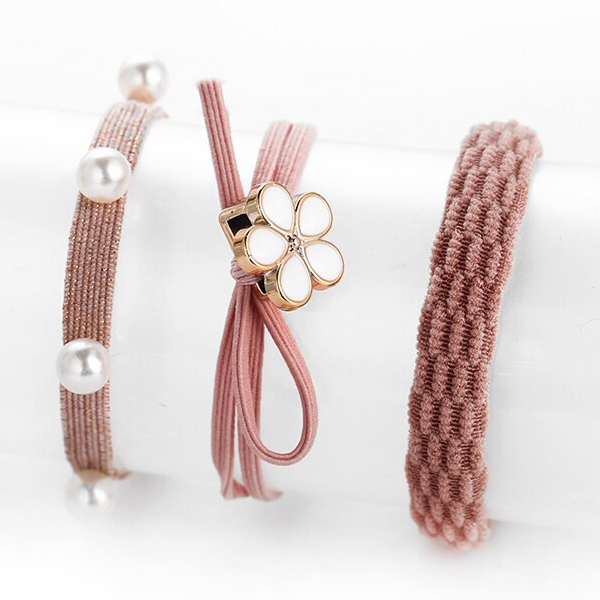 Three Pieces Party Special Hair Grooming Bands - Pink