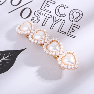 Vintage Fashion Golden Fancy Hair Clips - Hearts