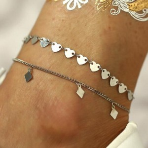 Silver Plated Chain Jewellery Anklet