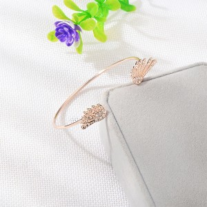 Angel Wings Gold Plated Bangle Bracelets