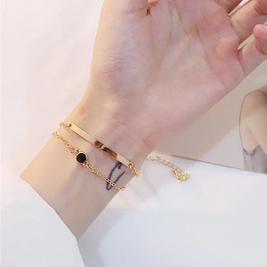 Double Elbow Extendable Chain Bracelets - Golden