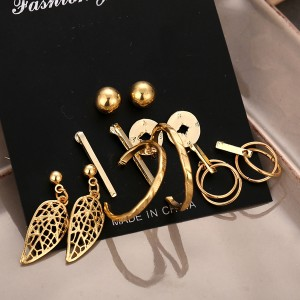 Round Shaped Spherical Six Pieces Ear Tops Set