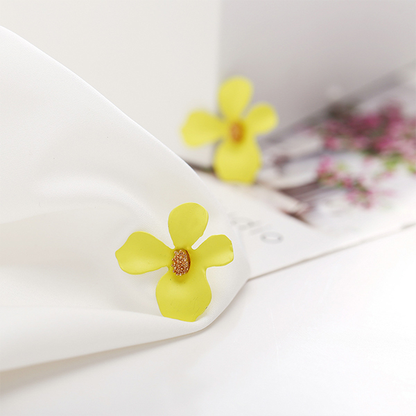 Ear Jewellery Floral Petals Special Ear Tops - Yellow