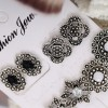 Floral Engraved Pearl Decoration Earrings