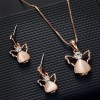 Angel Crystal Gold Plated Special Jewellery Set